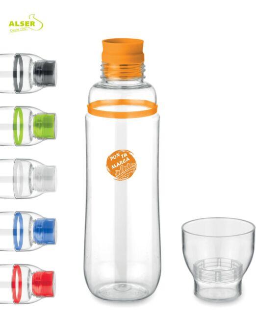 Botella con Vaso para regalo de empresa. Colores