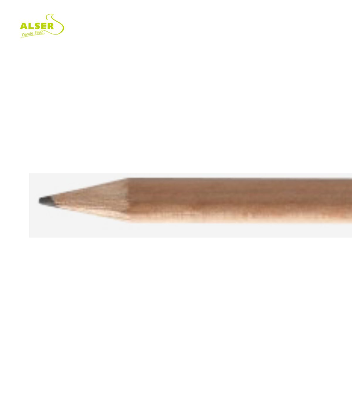 Lapicero Publicitario fabricado con madera de cedro. Detalle
