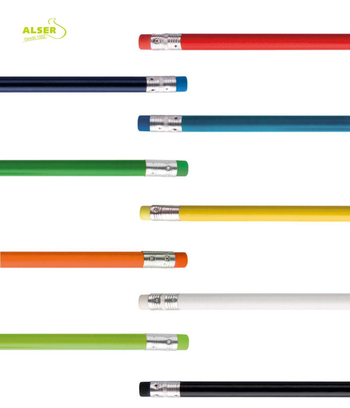 Lapiz publicitario para personalizar. Detalle Gomas de Colores