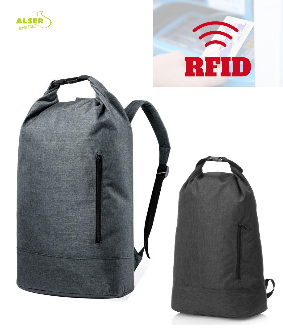 Mochila Urbana RFID para promociones Gris y negra