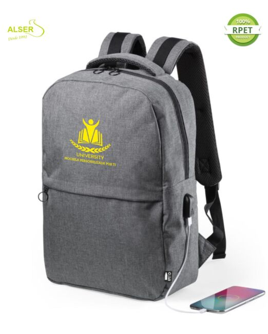 Mochila Laptop Corporativa Gris