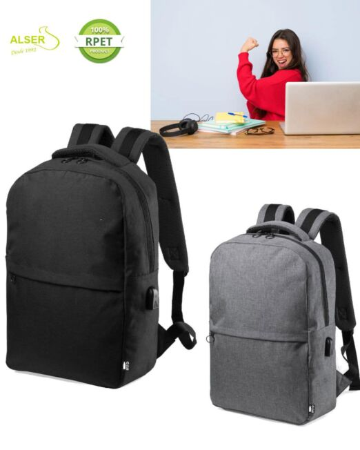 Mochila Laptop Corporativa Gris y negra