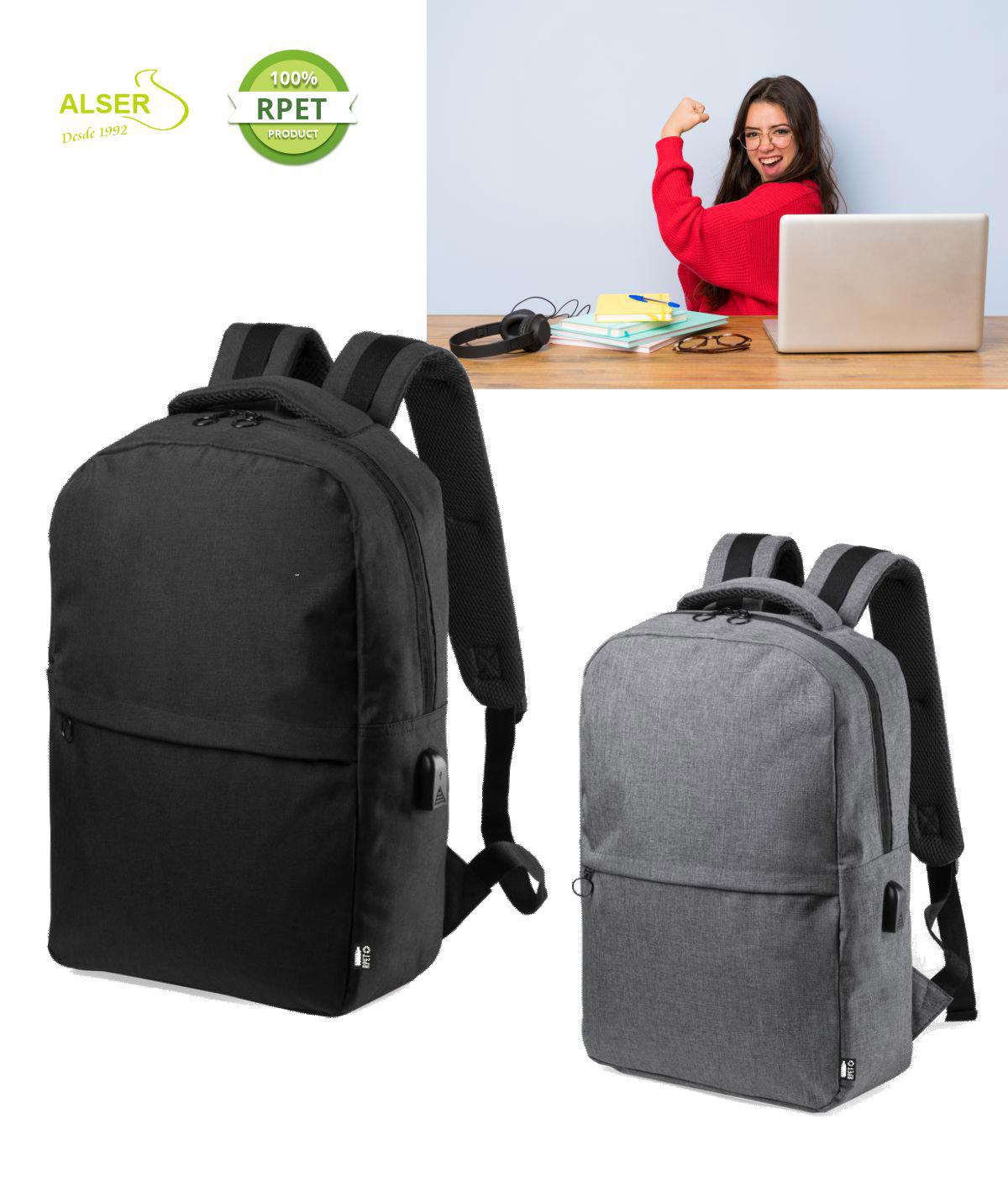 Mochila Laptop Corporativa Gris y negra