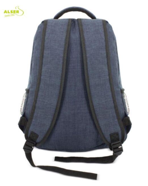 mochila para promocion personalizada con tu logo. parte de atrás