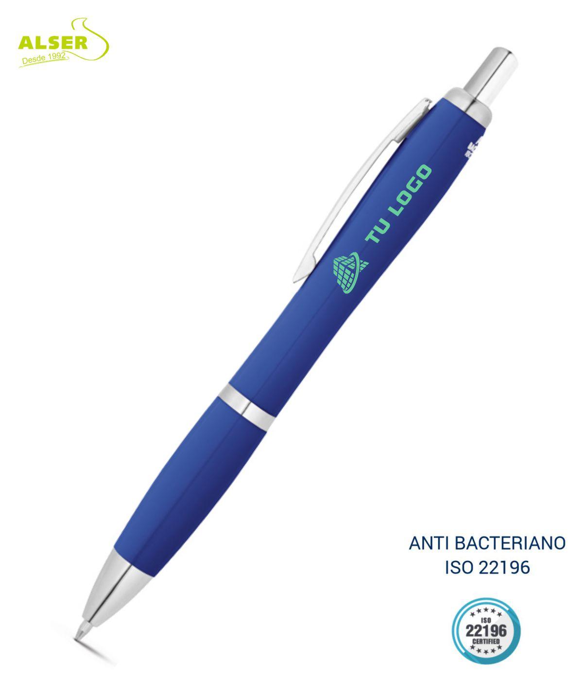 Boligrafo anti bacteriano Azul