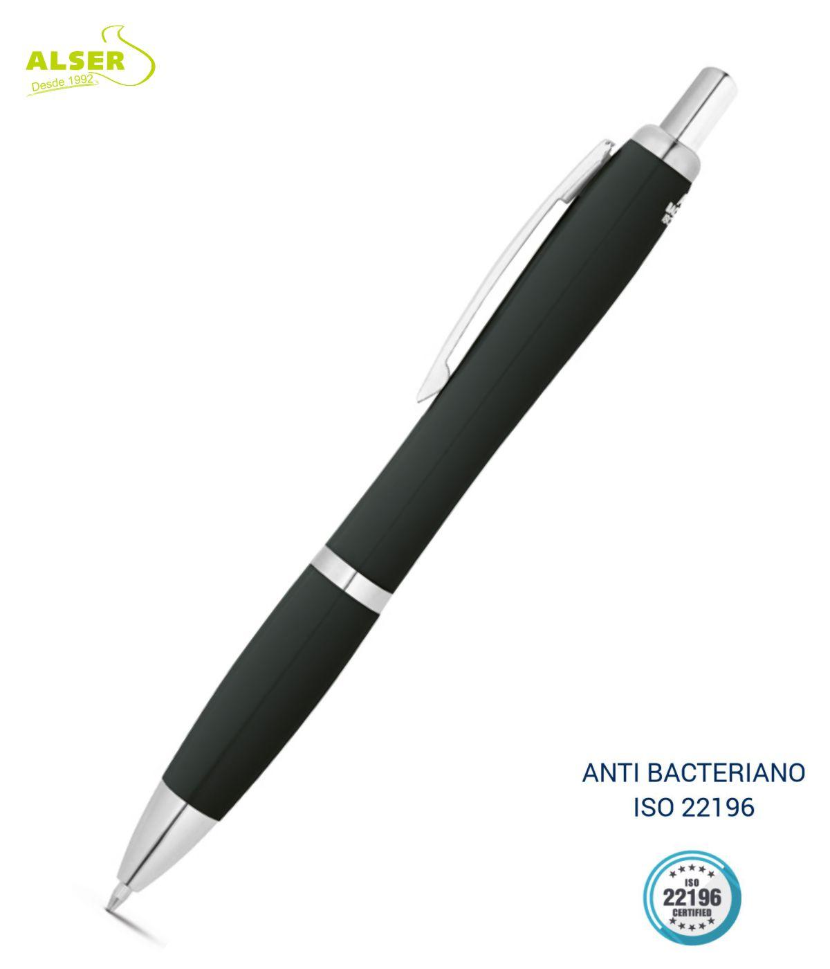 Boligrafo anti bacteriano Negro