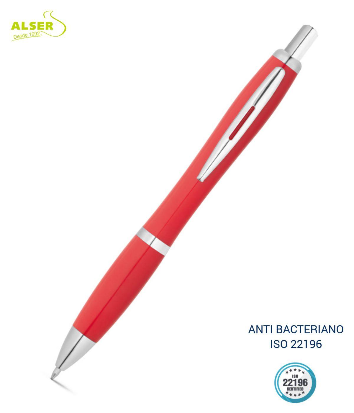 Boligrafo anti bacteriano Rojo
