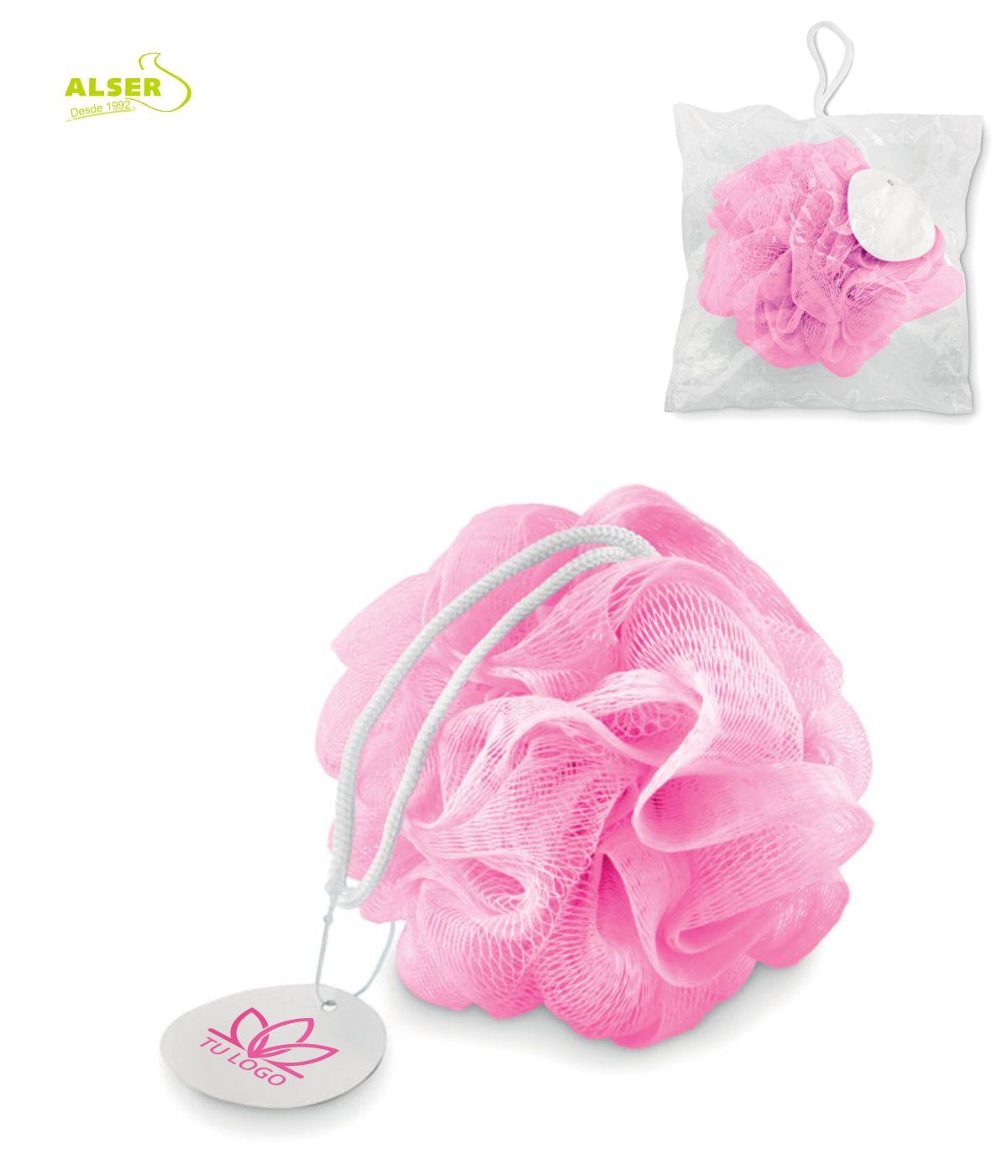 Esponja ducha personalizada para promociones de empresa Rosa