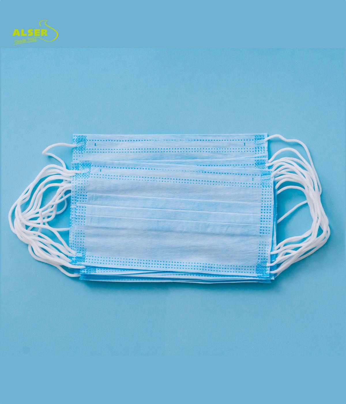 Mascarilla quirurgica azul para protección eficaz