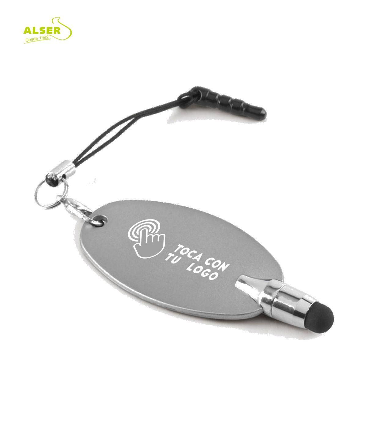 Puntero touch movil personalizado para empresas. Plata