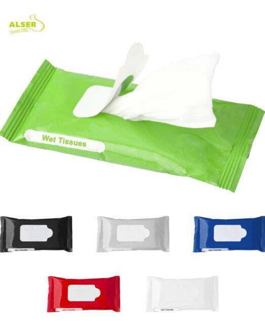 Toallitas humedas personalizadas con tu logo para publicidad y promociones de empresa