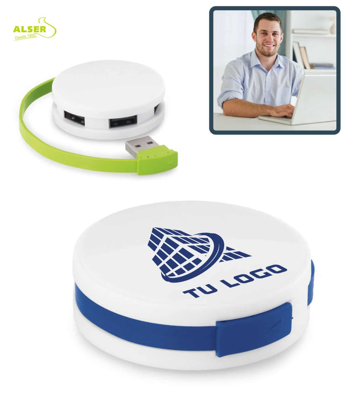 Pack fundamental de teletrabajo. Hub USB