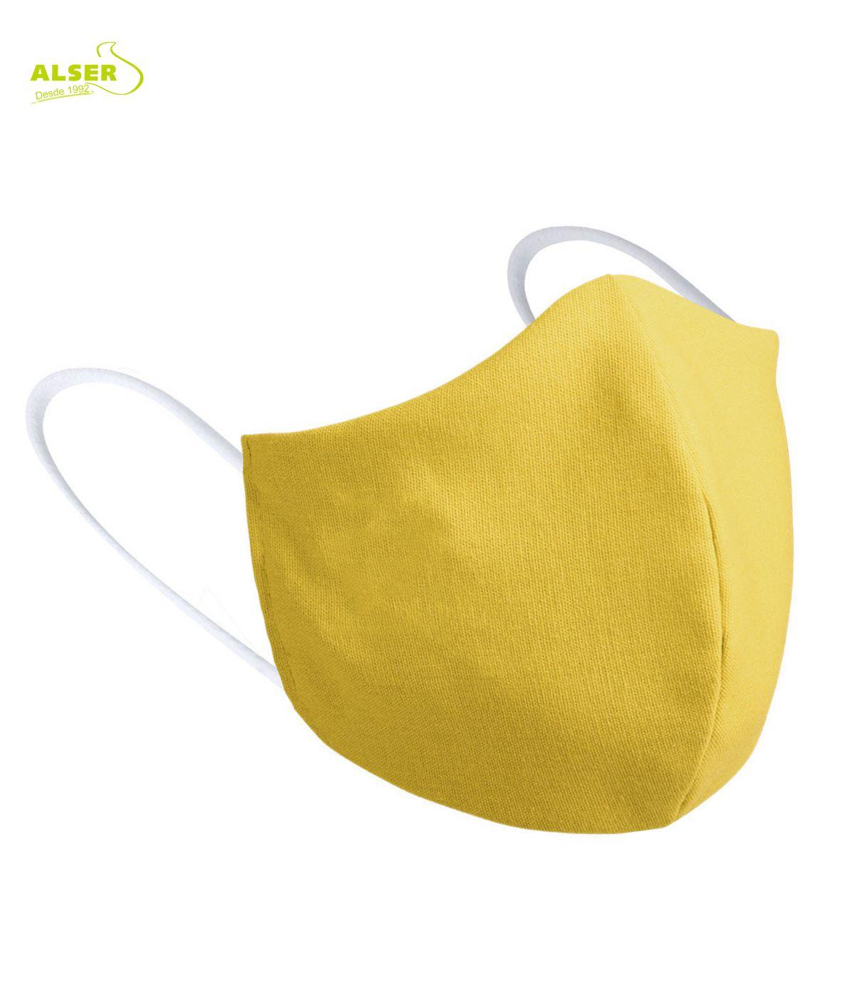 mascarilla infantil reutilizable. Personalizable. amarilla