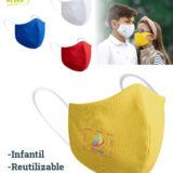 mascarilla infantil reutilizable. Personalizable