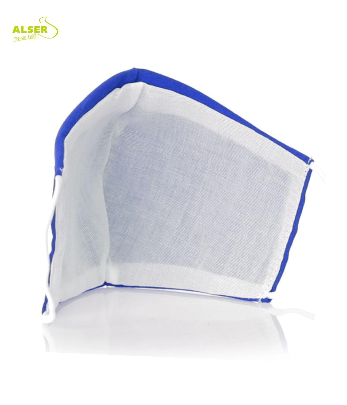 mascarilla infantil reutilizable. Personalizable. Azul