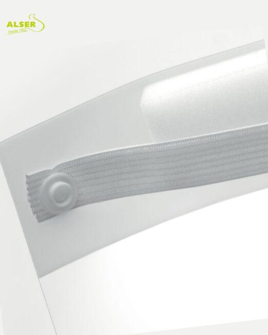 Pantalla facial con logo personalizada para empresa
