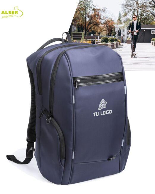 mochila de negocios impermeable azul