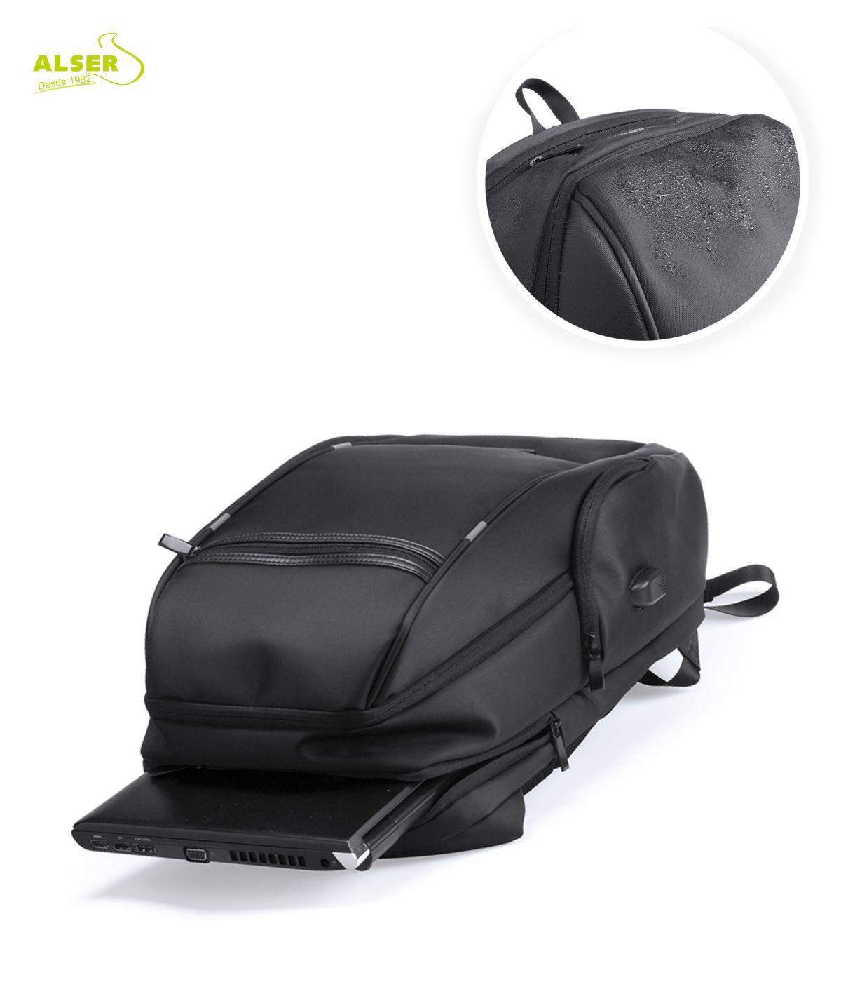 mochila de negocios impermeable detalle