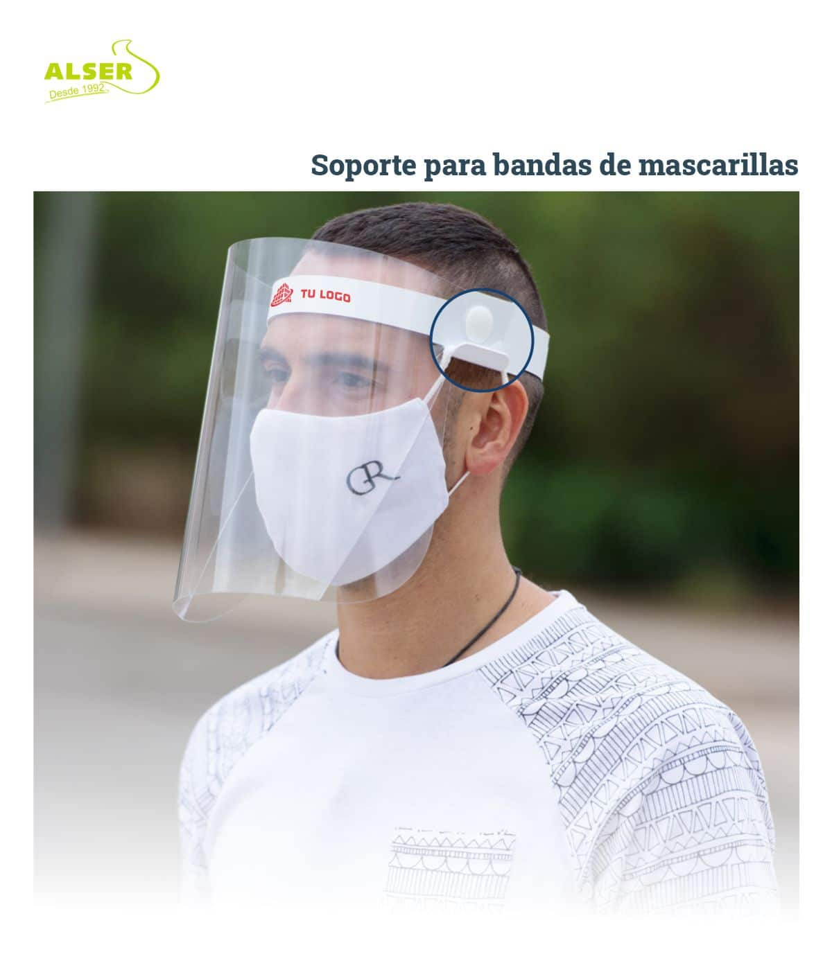 Pantalla proteccion facial corporativa cerrada