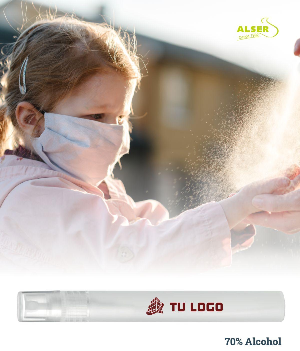 Spray de manos para empresas 70% alcohol