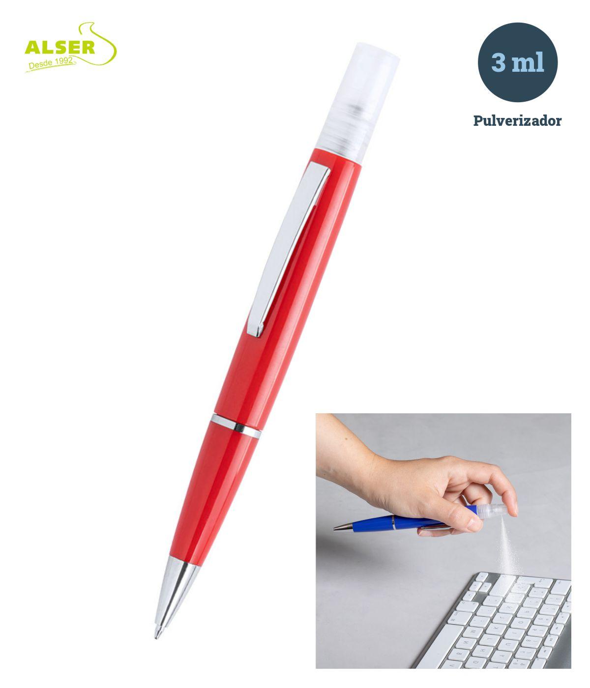 Bolígrafo spray en Rojo