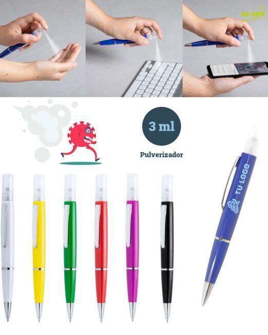 Boligrafo spray en diferentes colores