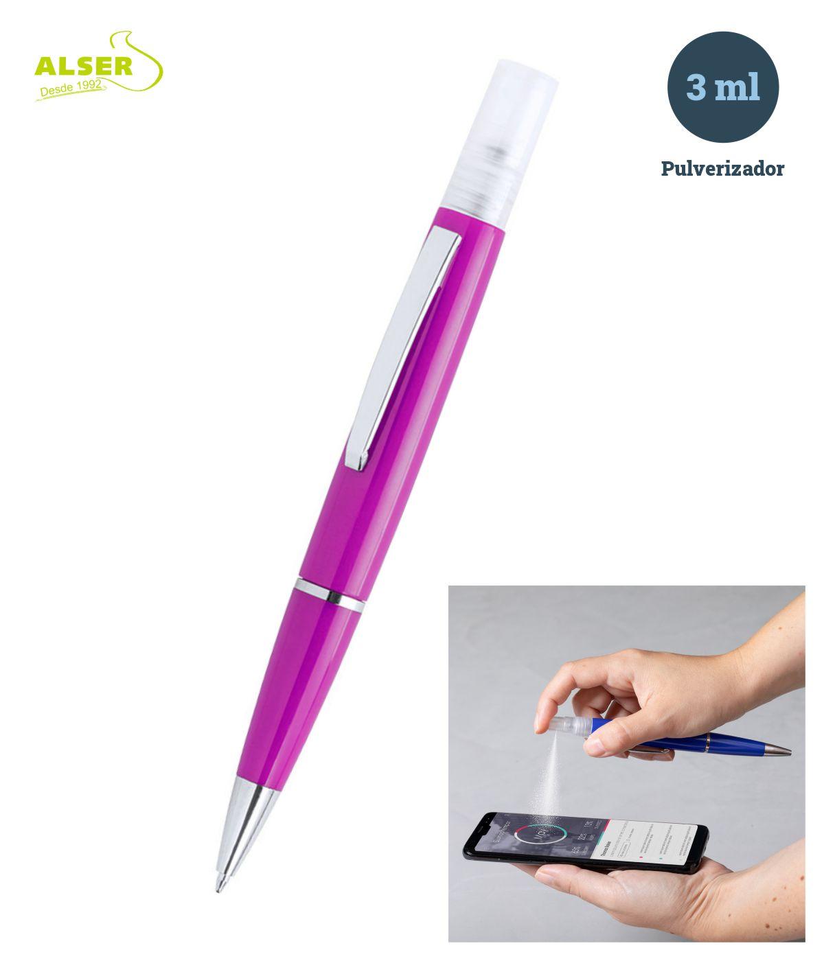 Bolígrafo spray en fucsia
