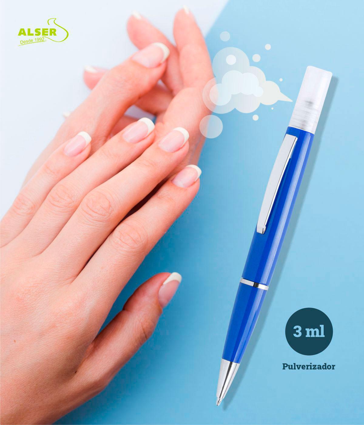 Boligrafo spray para higienizar manos