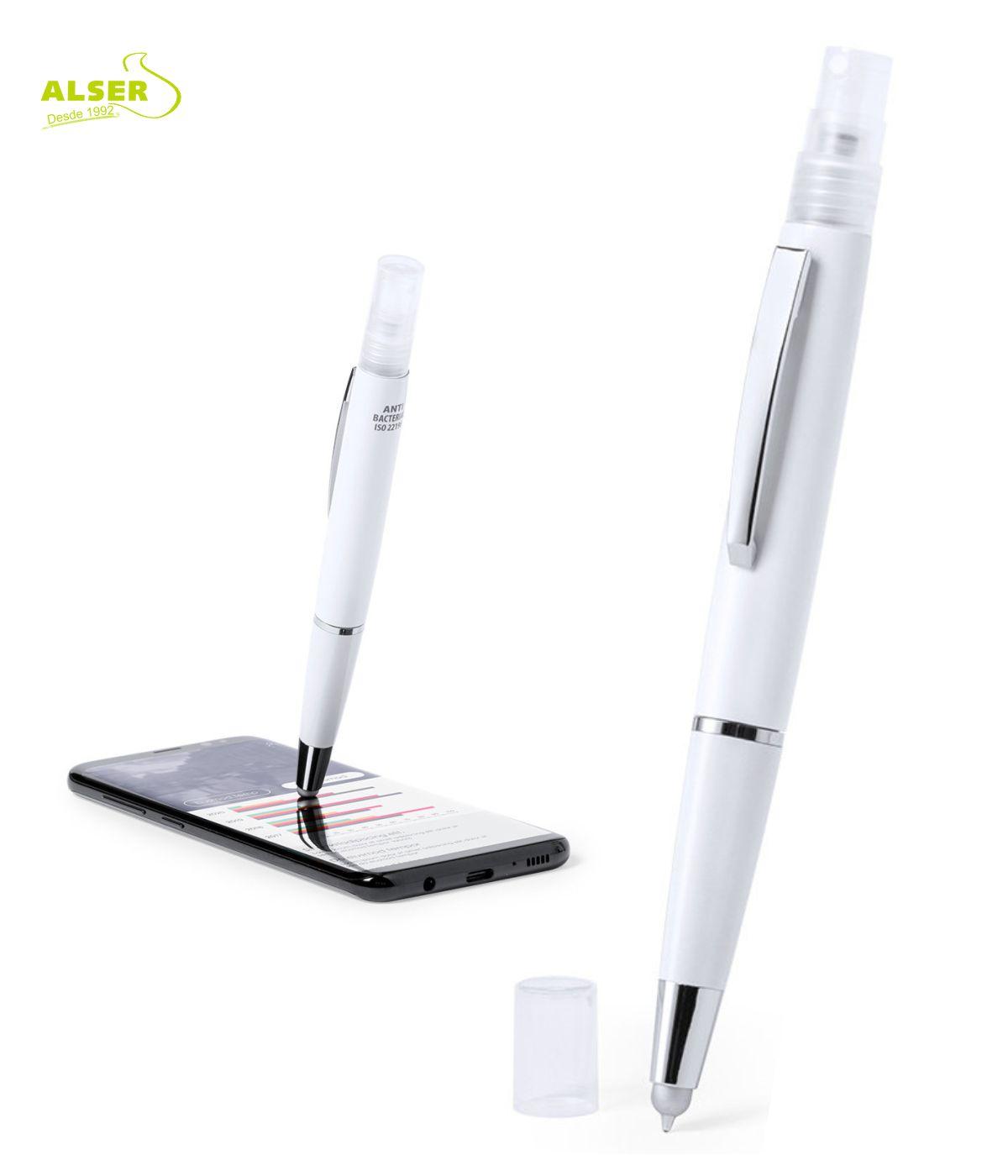 Bolígrafo pulverizador touch para interactuar con pantallas