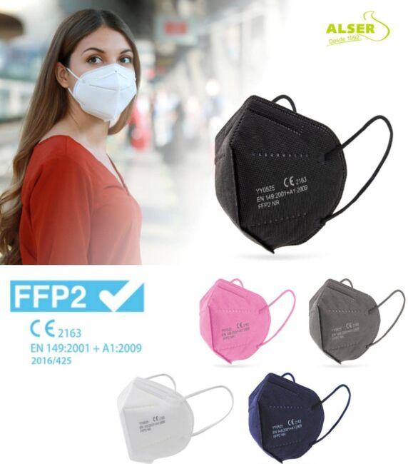Mascarillas FFP2 personalizadas. Colores variados