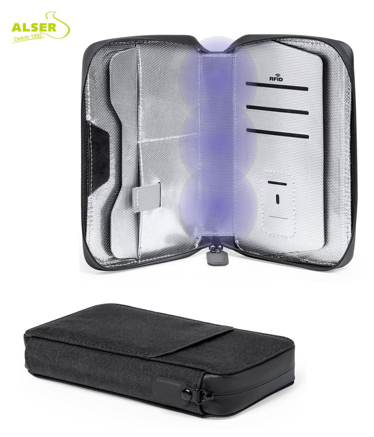 Portatodo organizador con luz ultravioleta UV