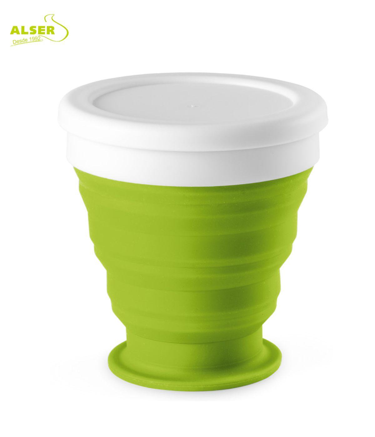 vaso plegable de silicona Verde claro