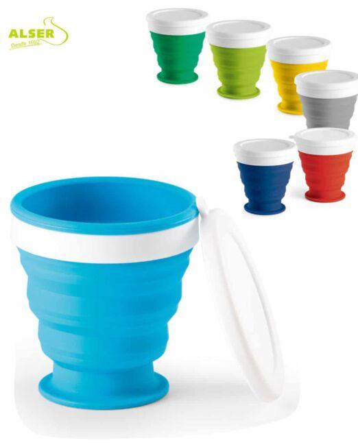 vaso plegable de silicona en colores
