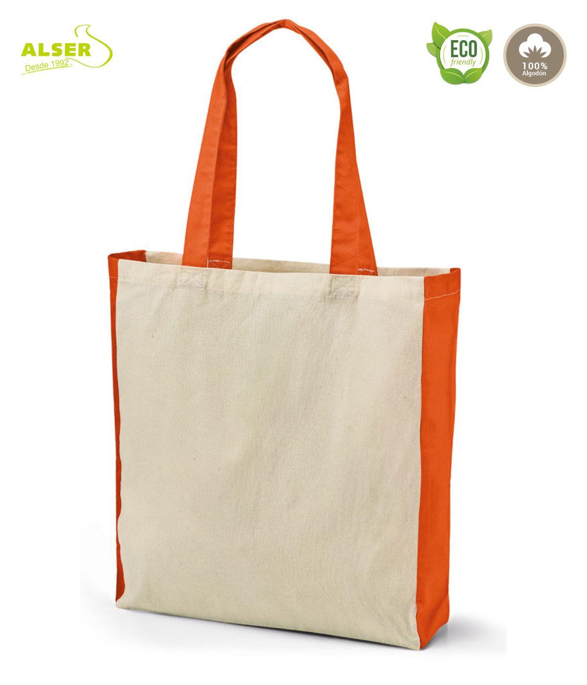 Bolsa de algodon personalizada Naranja