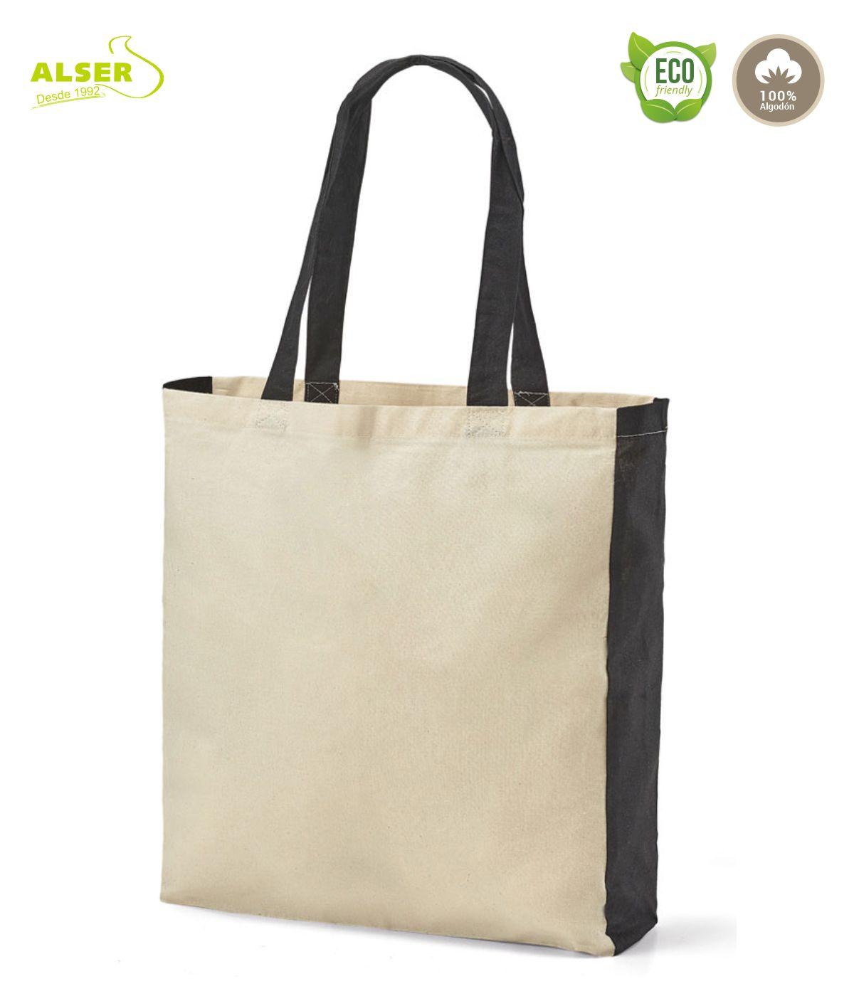 Bolsa de algodon personalizada negra