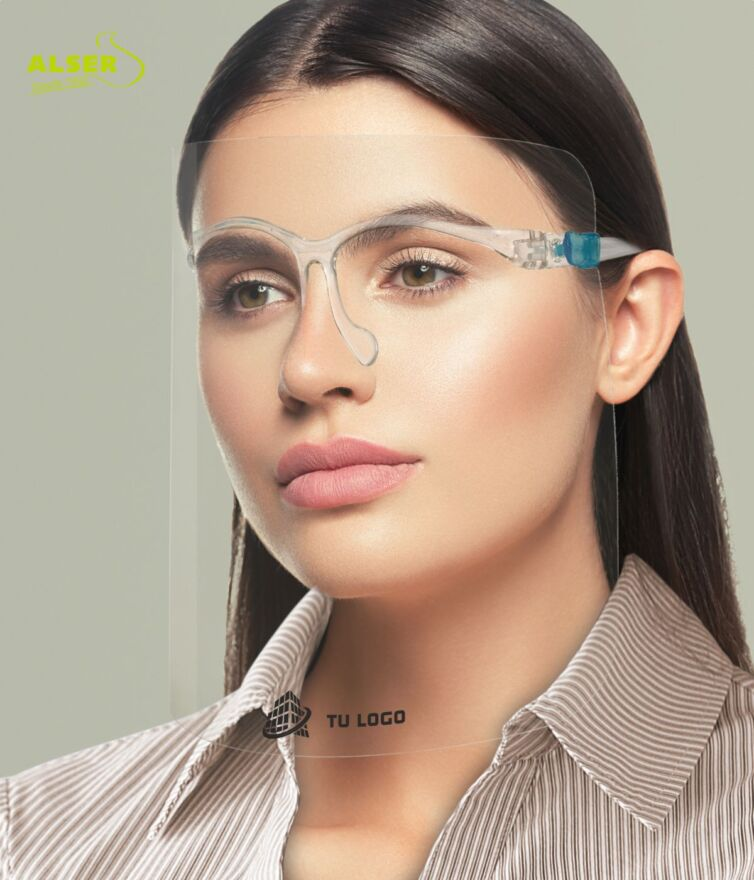 Gafas con pantalla protectora