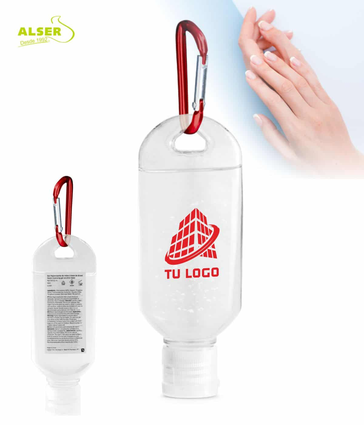 gel hidroalcoholico con mosqueton rojo