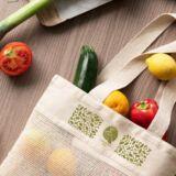 Bolsa de malla de algodon con verduras