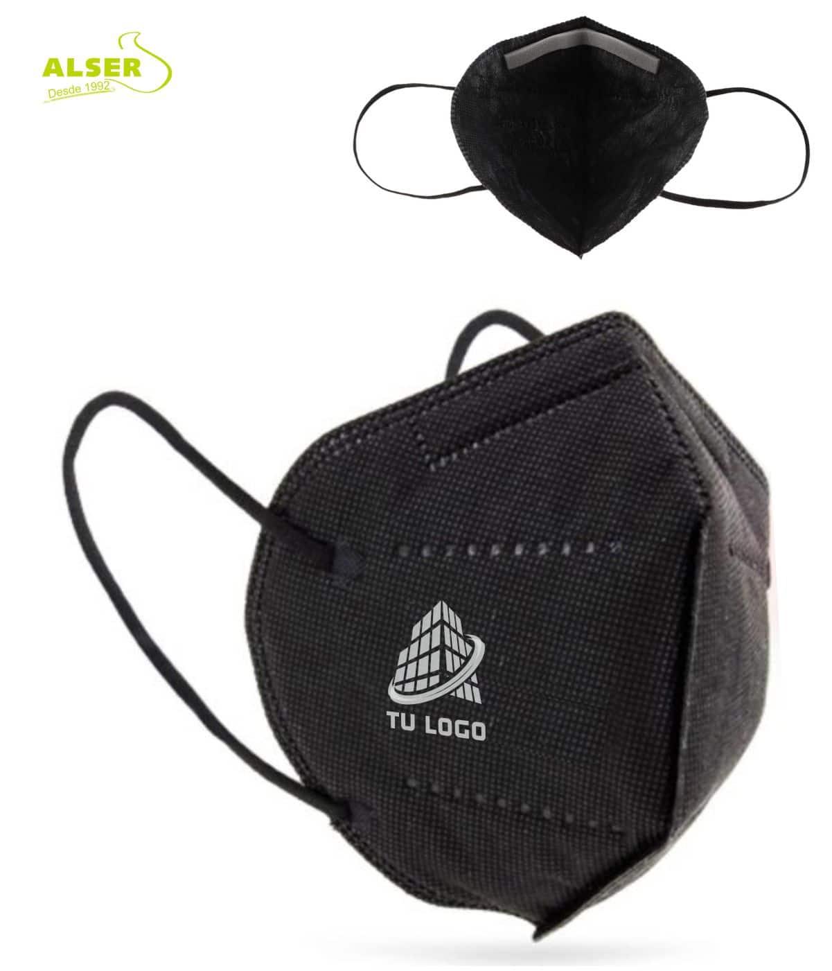 Mascarillas FFP3 negra personalizada