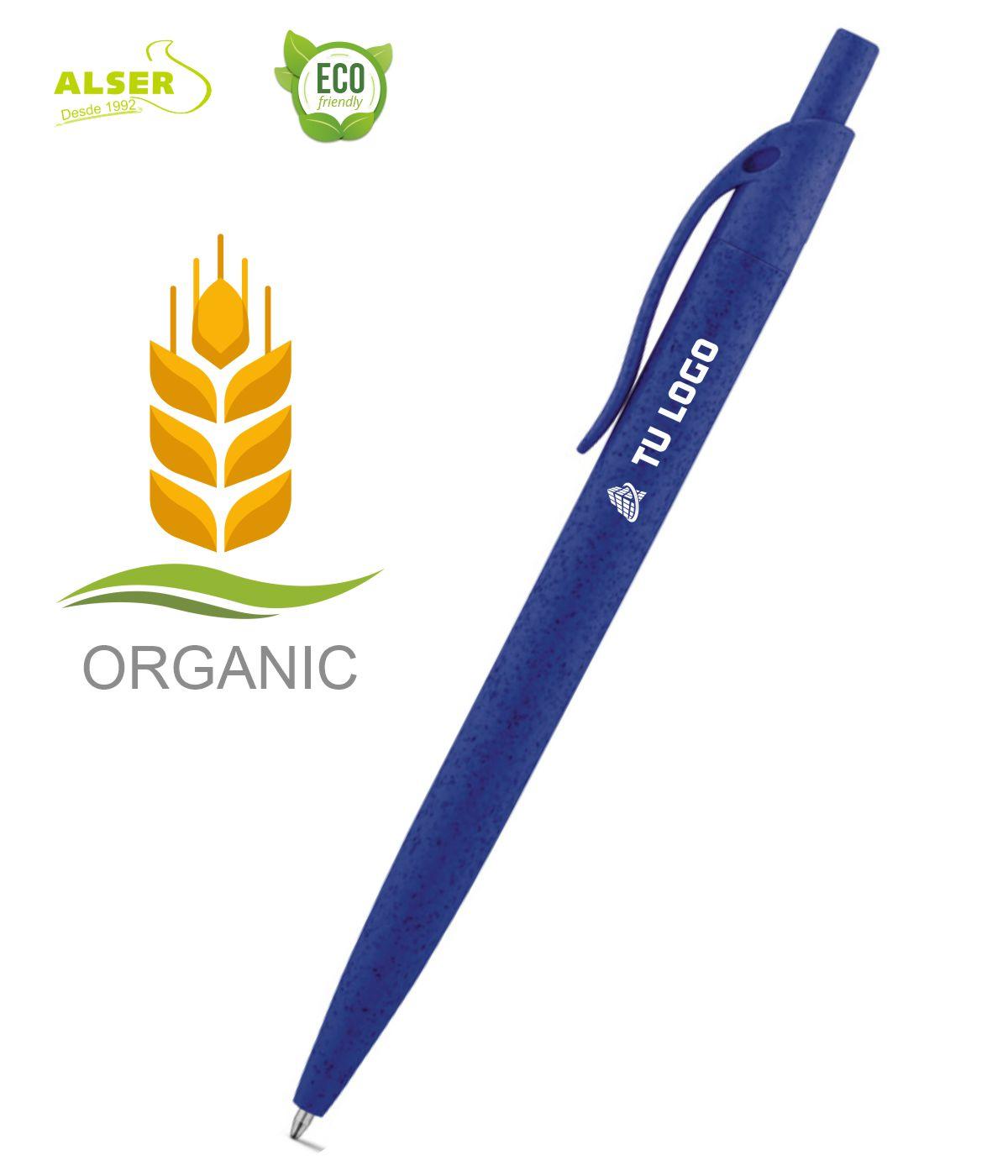 Boligrafo fibra de trigo Azul oscuro