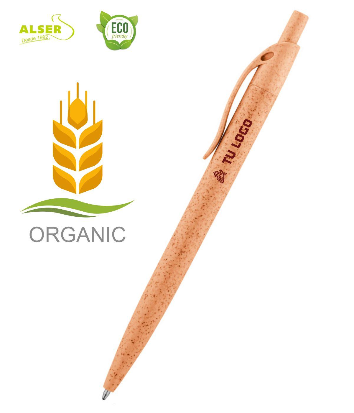 Boligrafo fibra de trigo Naranja