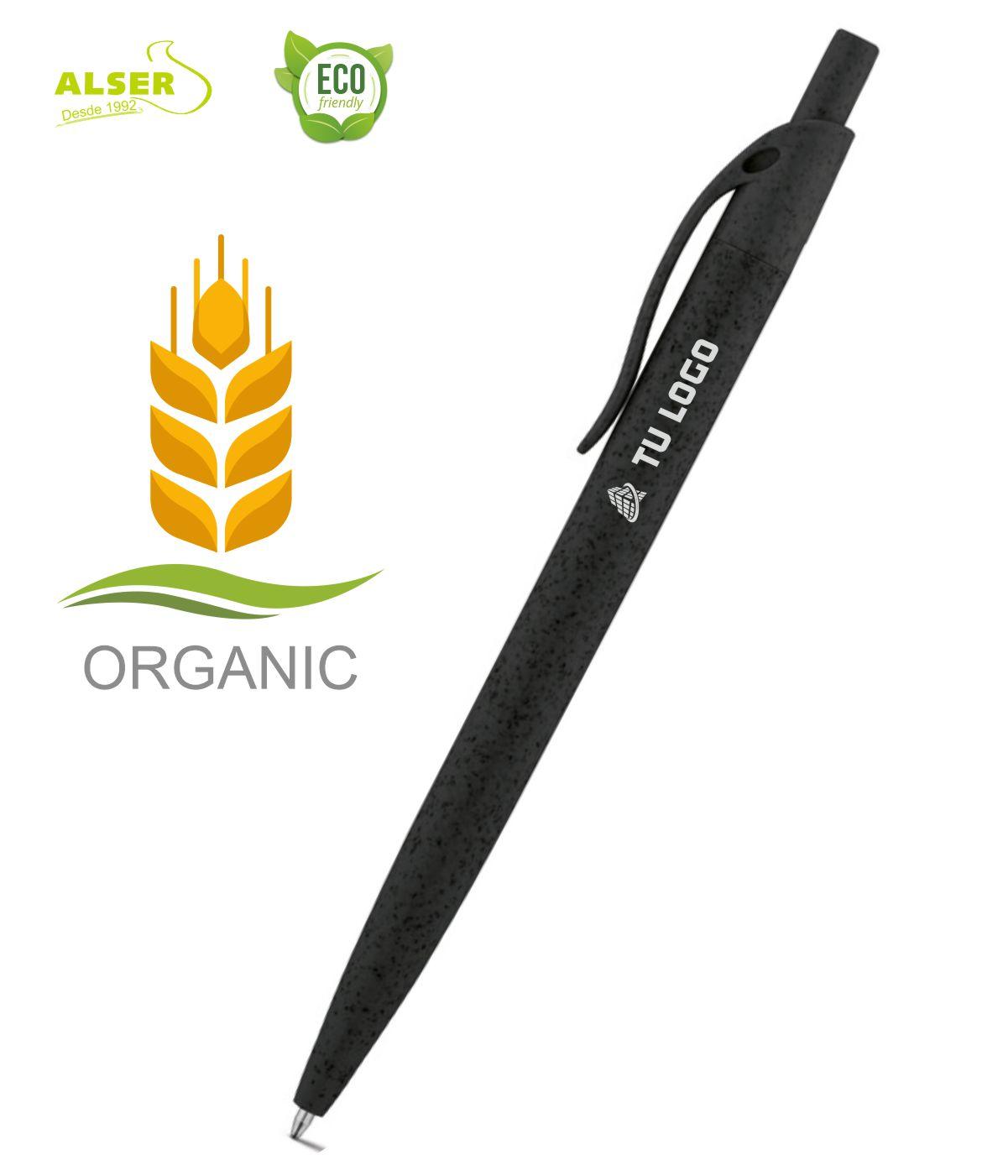 Boligrafo fibra de trigo Negro