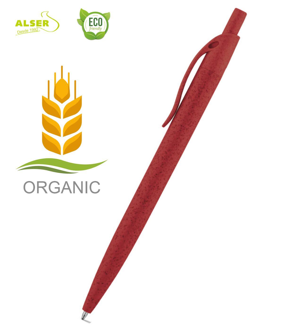 Boligrafo fibra de trigo Rojo