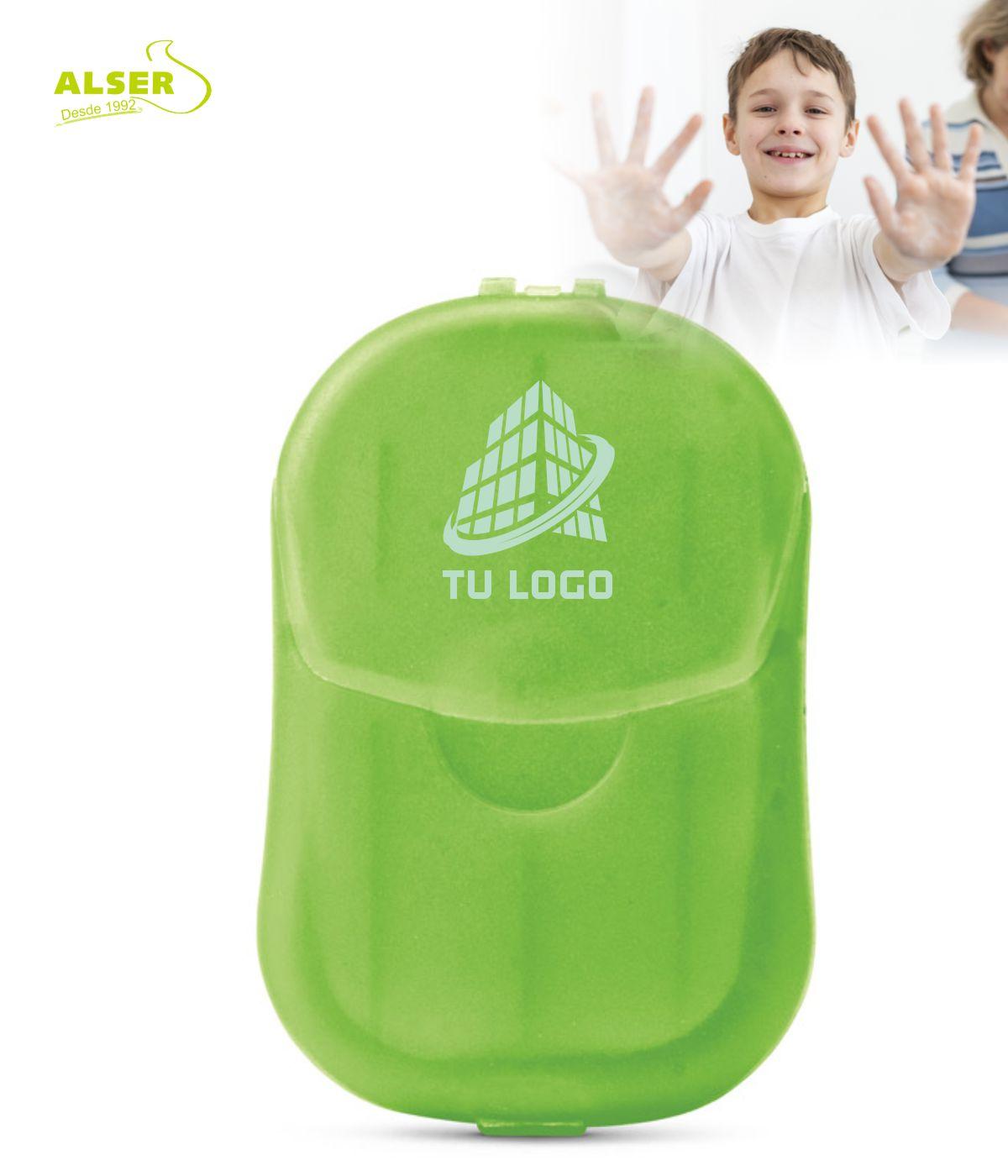 Estuche con laminas de Jabon Verde