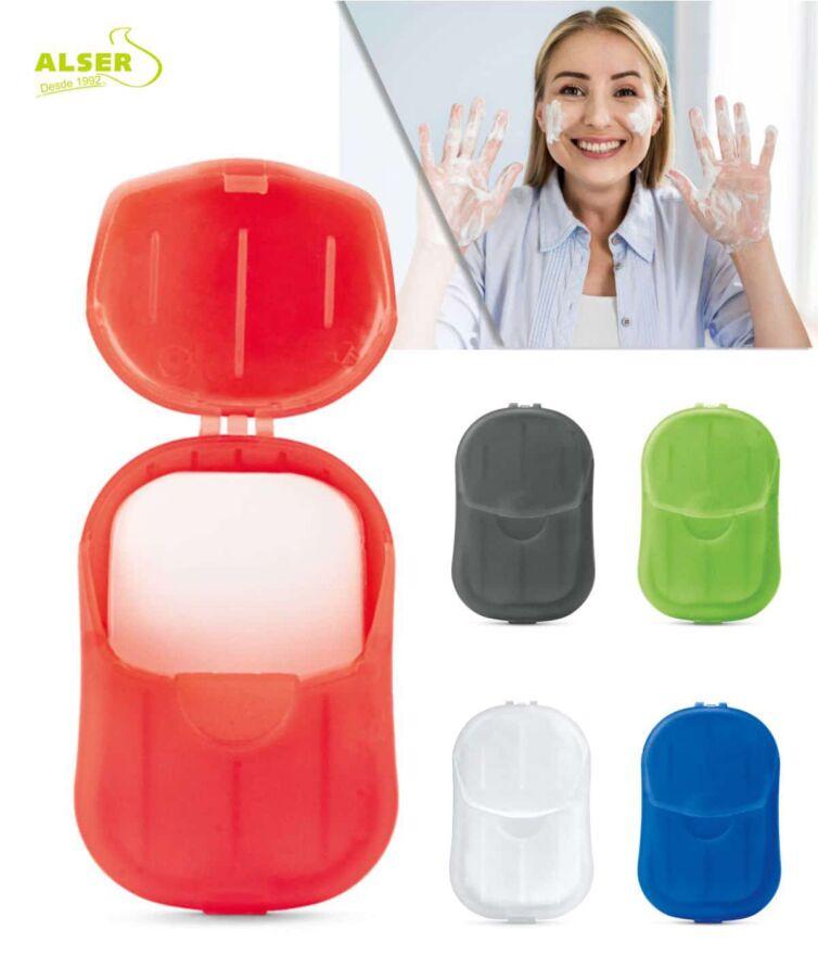 Estuche con laminas de jabón