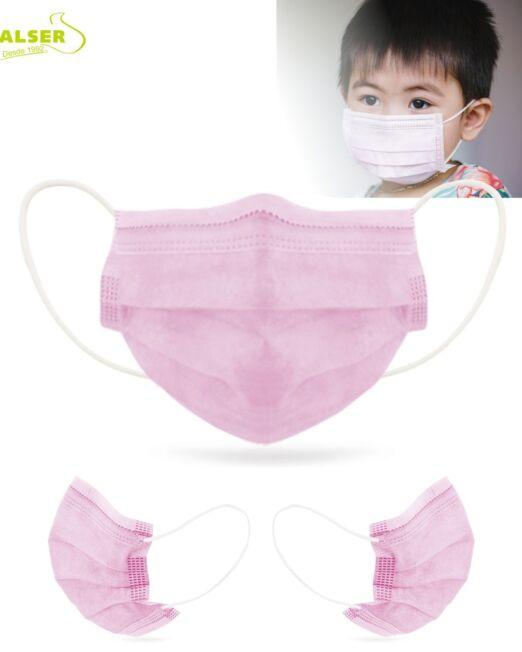 Mascarilla infantil quirúrgica IIR Rosa