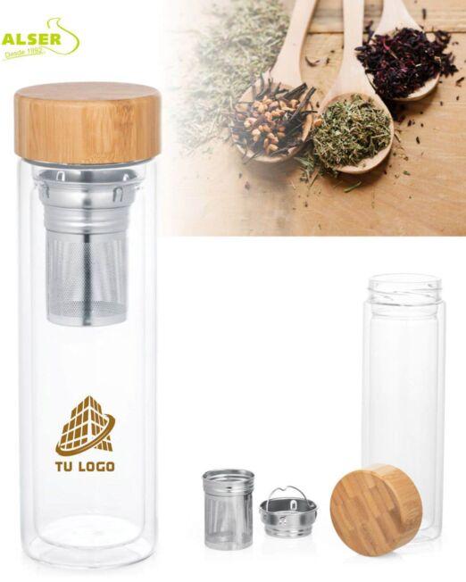 Botella doble difusor personalizada con logo