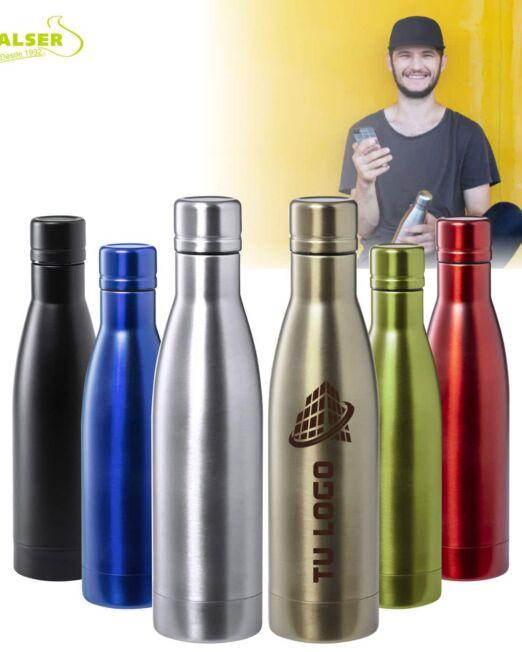 botellas con doble pared colores variados
