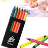 Caja 6 lápices fluorescentes personalizada