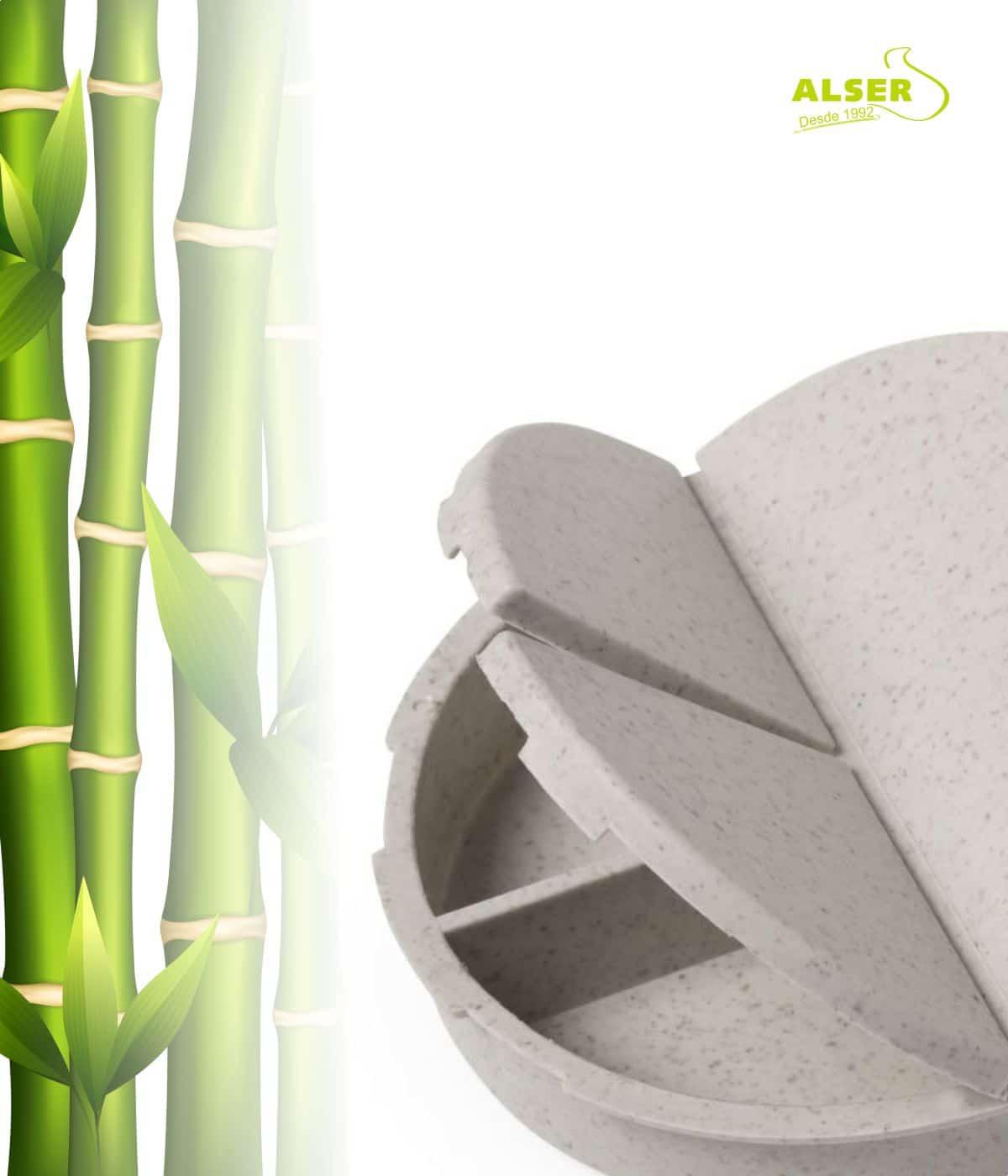 pastillero bambú tres compartimentos
